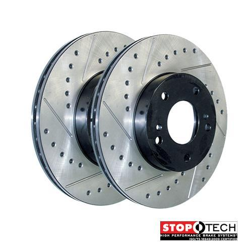 REAR STOPTECH DRILLED /& SLOTTED BRAKE ROTORS